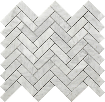Herringbone Marble Mosaic 12x12 (USTMHERR001)