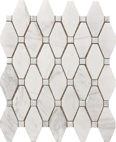Large Marble Rhombus Mosaic 12x12 (USTMROMB006)