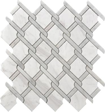Gray Medallion Marble Mosaic 12x12 (USTMNETG010)