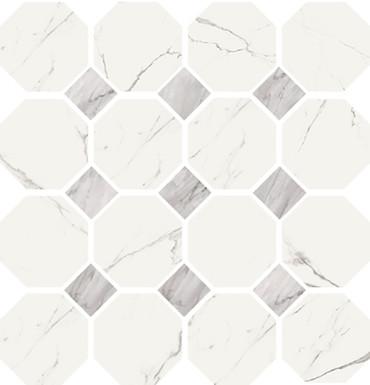 Statuario High Honed Finish Ottagonia Mosaic 11.8x11.8 (VSTATOTTM)