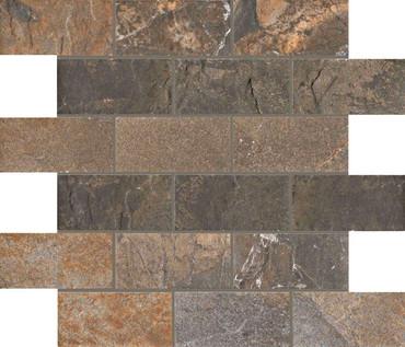 Natural Slate Multicolor 2x4 Mosaic (UNSL24MU)