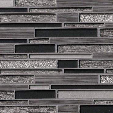 Metro Gris Blend Interlocking Patterned Mosaic (SMOT-SGLSIL-METGRI8MM)