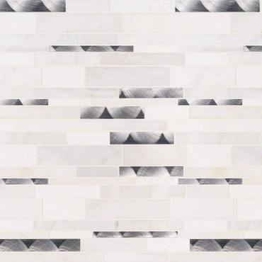Moderno Blanco Interlocking Patterned Mosaic (SMOT-SMTIL-MODBLA8MM)