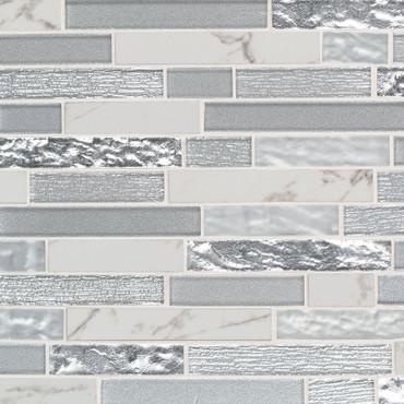 Whistler Ice Interlocking Patterned Mosaic (SMOT-GLSPIL-WHISTIC8MM)