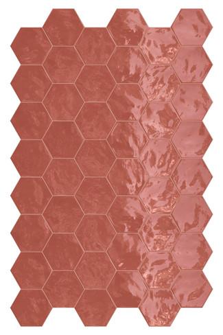 Hexa Cherry Pie Glossy Hexagon 6x7 Wall Tile (HXCPHEXGL)
