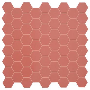 Hexa Cherry Pie Matte Hexagon Mosaic (HXCPMATMOS)