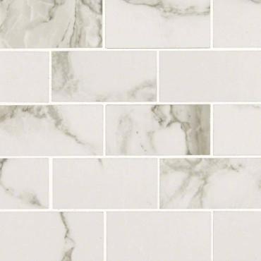 Pietra Statuario Polished 2x4 Mosaic (NPIESTA2X4P)