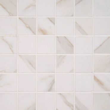 Pietra Calacatta Polished 2x2 Mosaic (NPIECAL2X2P-N)
