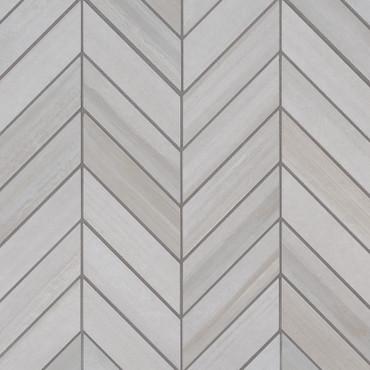 Watercolor Bianco 12x15 Chevron Mosaic (NWATBIACHE12X15)