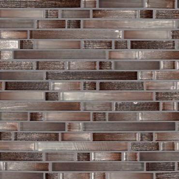 Akaya Copper Interlocking Patterned Mosaic (SMOT-GLSIL-AKACOP8MM)