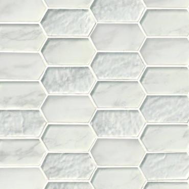 Calypso Picket Interlocking Patterned Mosaic (SMOT-GLSPK-CALYP8MM)
