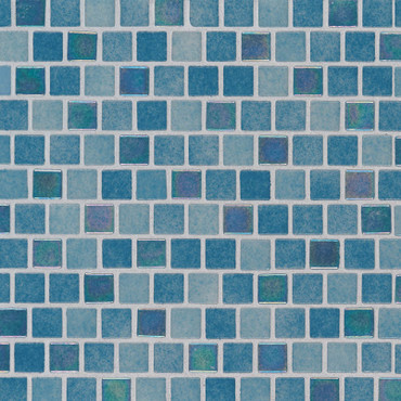 Carribean Reef 1x1 Staggered Mosaic (SMOT-GLSB-CARREF4MM)