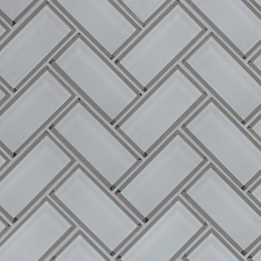 Ice Bevel Herringbone Mosaic (SMOT-GLS-ICEBEHB8MM)