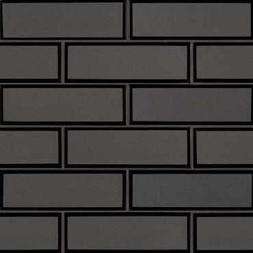 Metallic Gray Bevel Subway Tile 2x6 Mosaic (SMOT-GLSST-MEGRBE8MM)