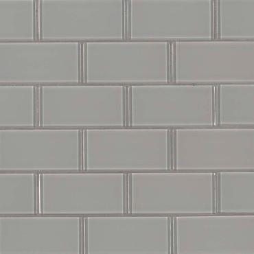 Oyster Gray Subway Tile 2x4 Mosaic (SMOT-GLSST-OYGR8MM)