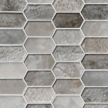 Savoy Picket Patterned Mosaic (SMOT-GLSPK-SAVOY8MM)