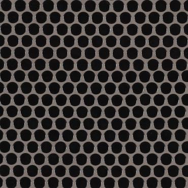 Domino Black Glossy Penny Round Mosaic (NBLAPENROU)
