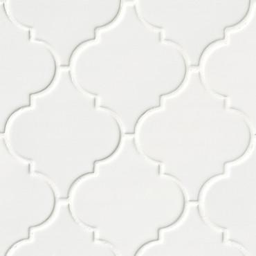Highland Park Whisper White Arabesque Mosaic (SMOT-PT-WW-ARABESQ)