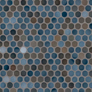 Penny Round Azul Glossy Mosaic (SMOT-PT-PENRD-AZUL)