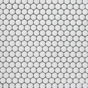 Penny Round Bianco Matte Mosaic (SMOT-PT-PENRD-BIAM)