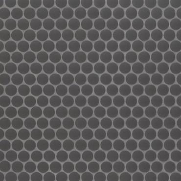Penny Round Nero Matte Mosaic (SMOT-PT-PENRD-NEROM)
