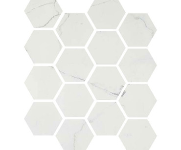 "Luxury Calacatta 3"" Hexagon Mosaic on 9x11 Sheet (1099587)"