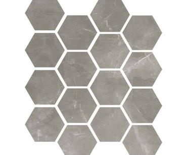 """Luxury Amani Grey 3"""" Hexagon Polished Mosaic on 9x11 Sheet (1099588)"""