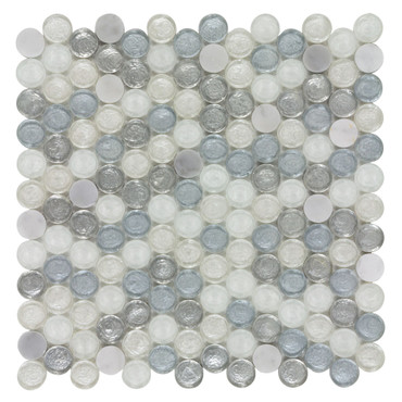 Chic Persian Sun Penny Round 12x12 Mosaic (ANTHCHPS)