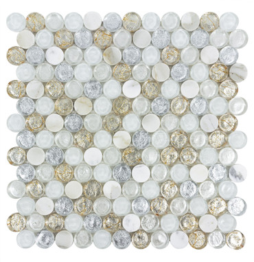 Chic Tuscan Sun Penny Round 12x12 Mosaic (ANTHCHTS)