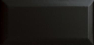 CC Textures Black Bright Beveled 3x6 Wall Tile (U759-BV)