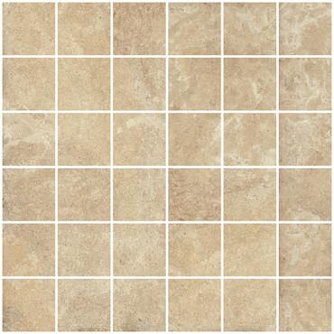 Matiere Beige Porcelain Mosaic 2x2 on 12x12 sheet (02CMT2TZ)