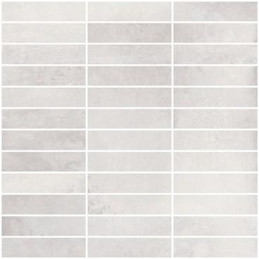 Metal Max 2.0 Light Grey Porcelain Mosaic 1x4 on 12x12 Sheet (HMM01F2398-H)
