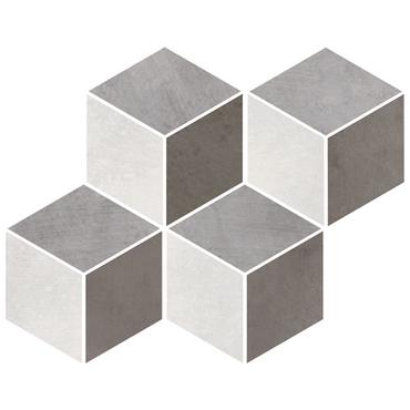Metal Max 2.0 Blend Porcelain Cubic Mosaic on 12x12 Sheet (HMM010203F-CUB)