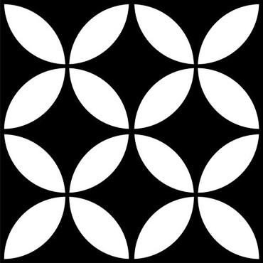 Motif Blossom 8x8 Ceramic Tile (DF202)