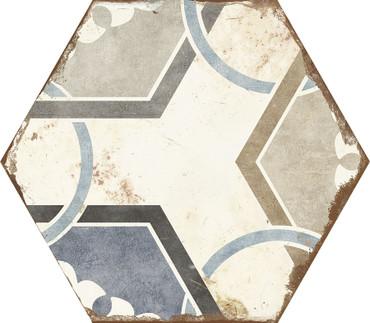 Bohemia Dahlia Porcelain Hexagon 8x10 (BODAHEX810)