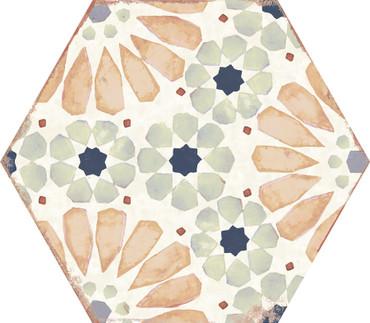 Bohemia Hanna Porcelain Hexagon 8x10 (BOHAHEX810)