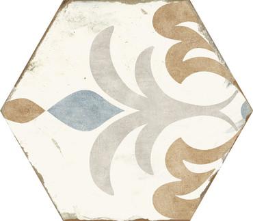Bohemia Lola Porcelain Hexagon 8x10 (BOLOHEX810)
