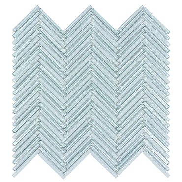 Seasons Celestial Glass Herringbone Mosaic 10x10 (ANTHSECEHB)