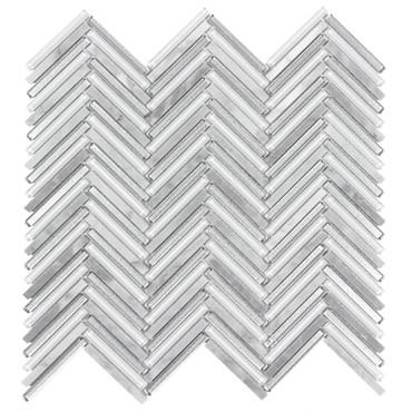 Seasons Frost Glass Herringbone Mosaic 10x10 (ANTHSEFRHB)