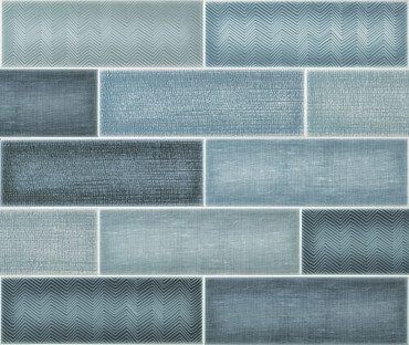 Collage Oxford Blue Ceramic Wall Tile 4x12 (ANTHCOOB)