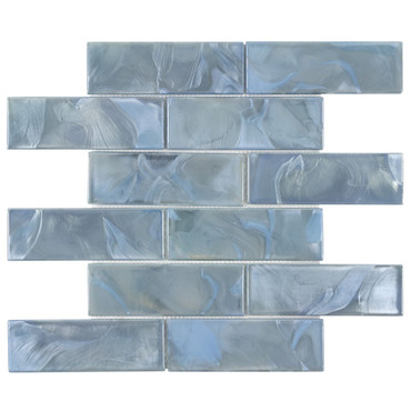 Mystic Glass Astral Brick Mosaic 2x6 on 12x12 Sheet (ANTHMGAS)