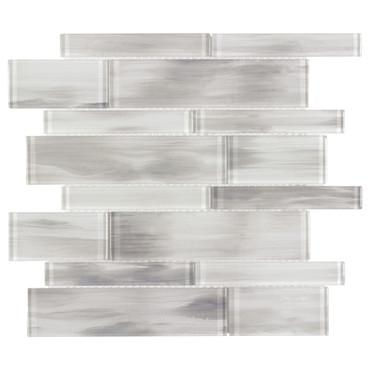 Mystic Glass Whirlwind Mix Mosaic 2x6 on 12x12 Sheet (ANTHMGWM)
