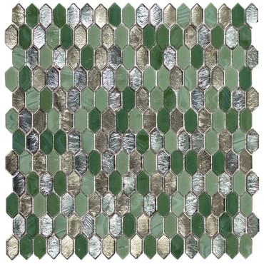 Royal Gems Regal Jade 0.6x1.2 Picket Mosaic on 12x12 Sheet (ANTHRGRJ)