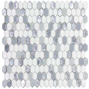 Royal Gems Regal Opal 0.6x1.2 Picket Mosaic on 12x12 Sheet (ANTHRGRO)