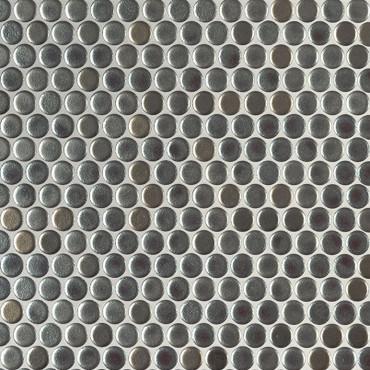 Penny Round Metallico Glossy Mosaic (SMOT-PT-PENRD-METAL)