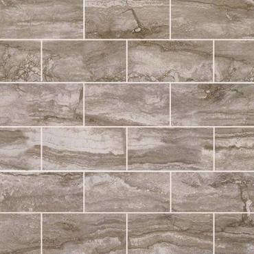 Pietra Bernini Camo Polished 2x4 Mosaic (NPIEBERCAM2X4P)