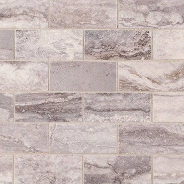 Pietra Bernini Carbone Polished 2x4 Mosaic (NPIEBERCAR2X4P)