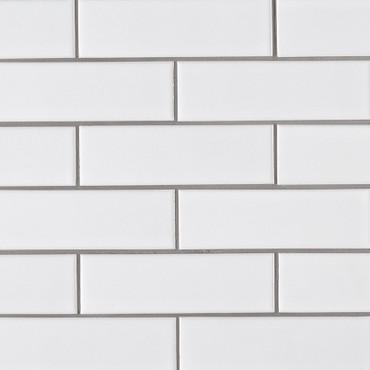 Retro Bianco Matte Brick 2x6 Mosaic (SMOT-PT-RETBIA-2X6)