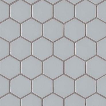 Retro Gray Matte Hexagon Mosaic (SMOT-PT-RETGRA-2HEX)