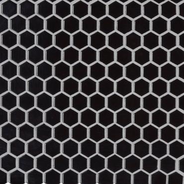 Retro Nero Glossy Hexagon Mosaic (SMOT-PT-RETNERO-1HEXG)